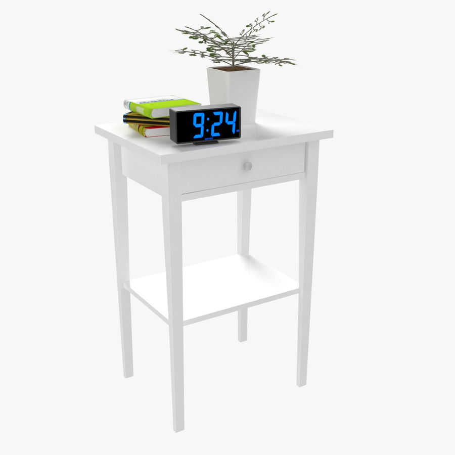 Hemnes Bedside Table royalty-free 3d model - Preview no. 2