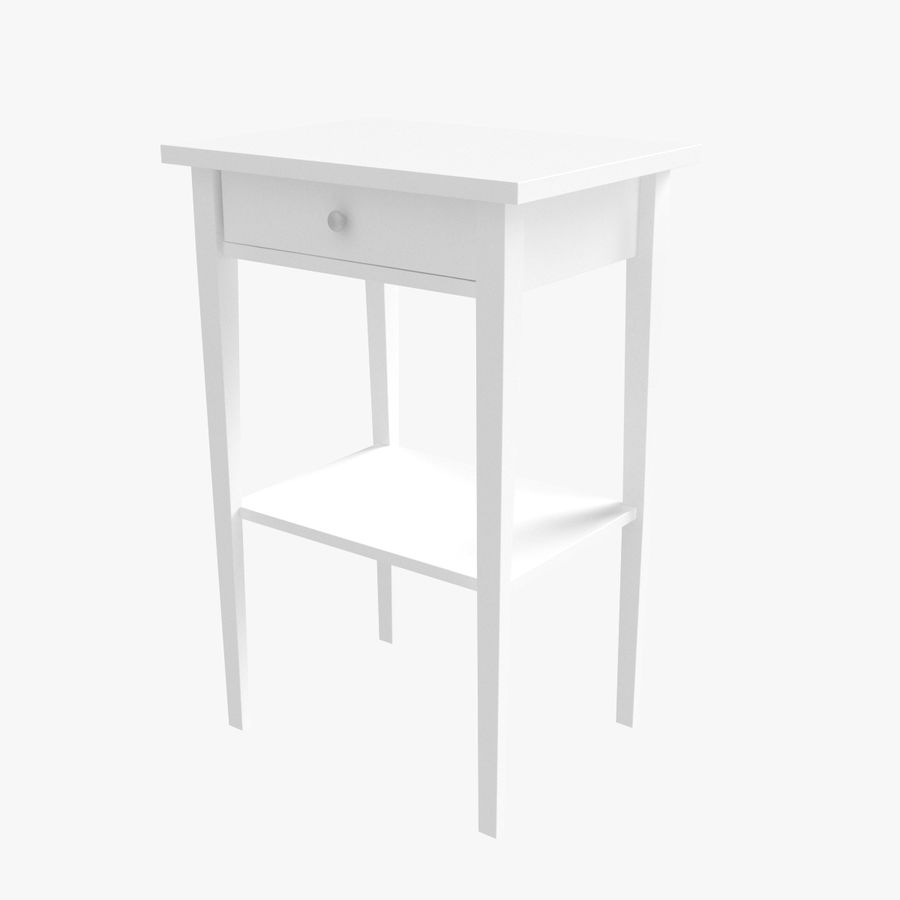 Hemnes Bedside Table royalty-free 3d model - Preview no. 3
