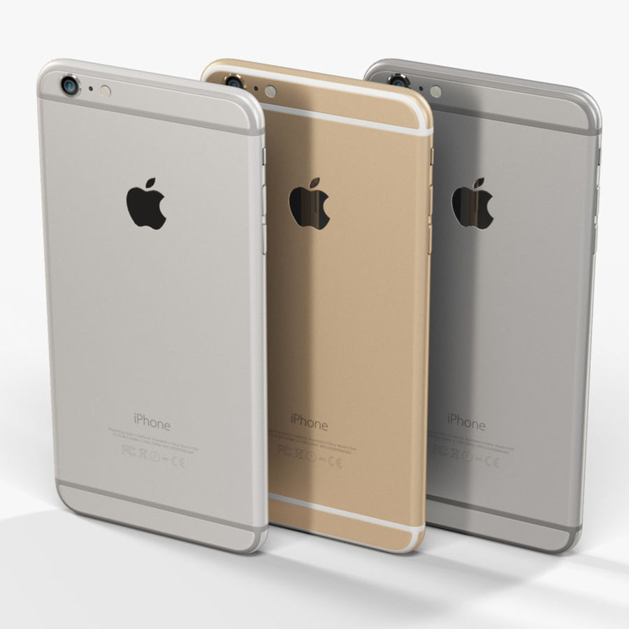 Apple iPhone 6 Plus royalty-free 3d model - Preview no. 9
