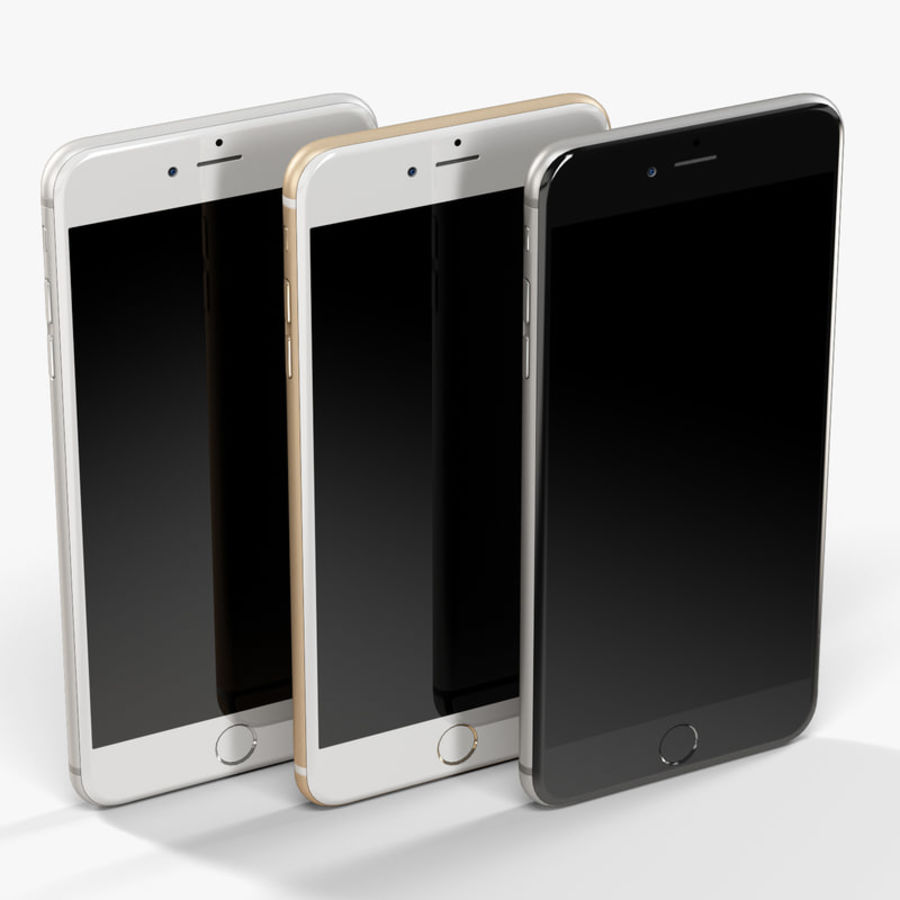 Apple iPhone 6 Plus royalty-free 3d model - Preview no. 8