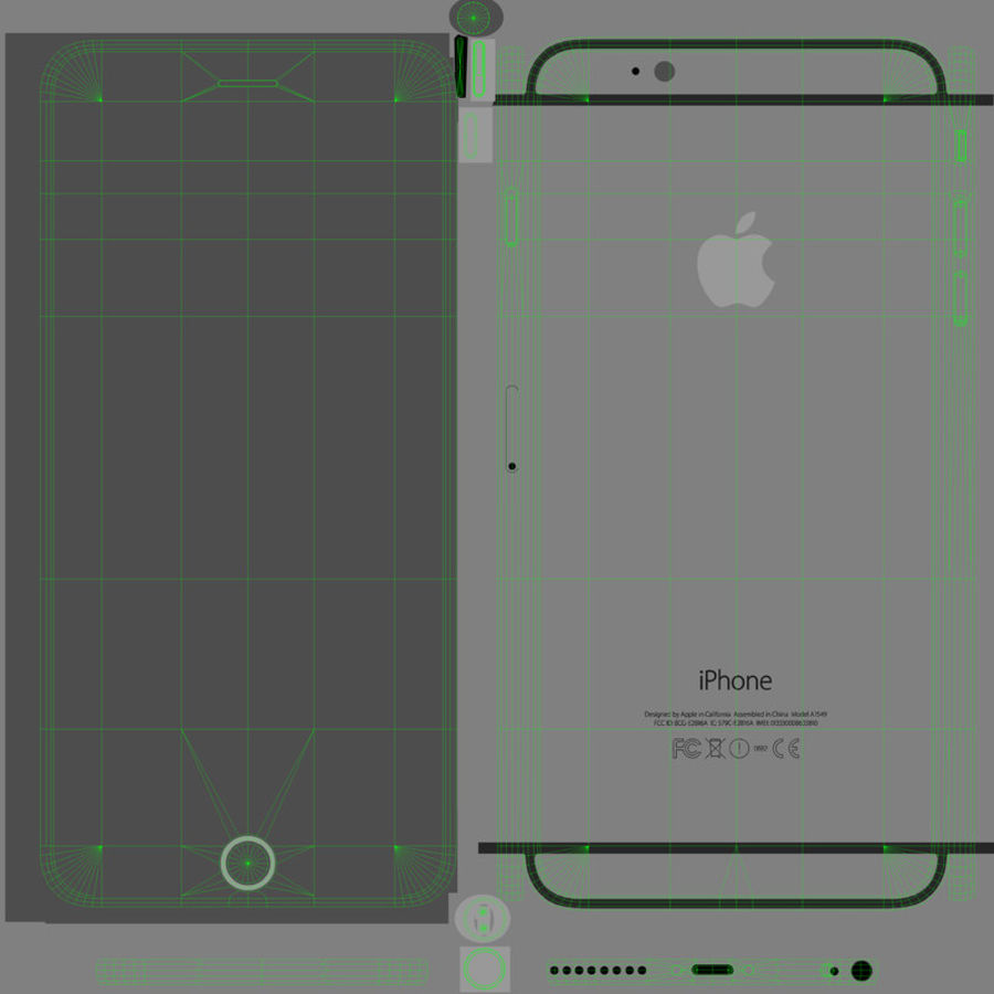 Apple iPhone 6 Plus royalty-free 3d model - Preview no. 20