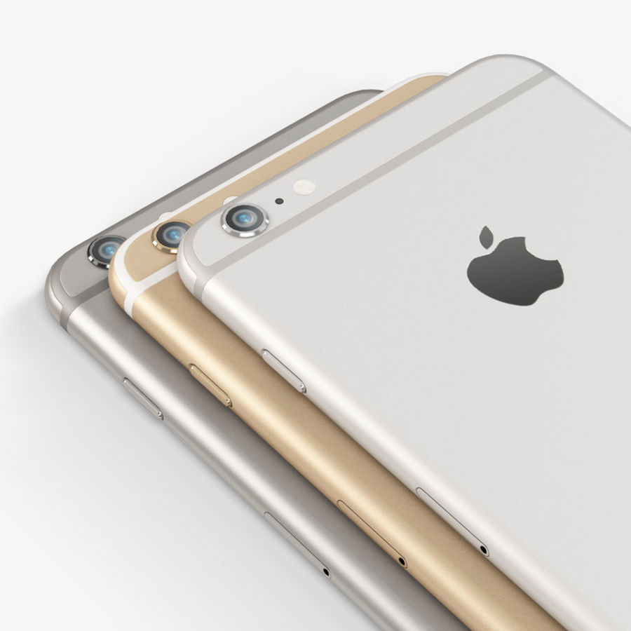 Apple iPhone 6 Plus royalty-free 3d model - Preview no. 10