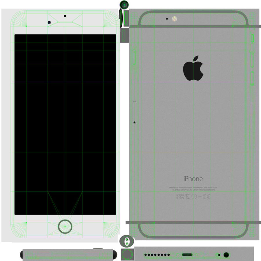 Apple iPhone 6 Plus royalty-free 3d model - Preview no. 15