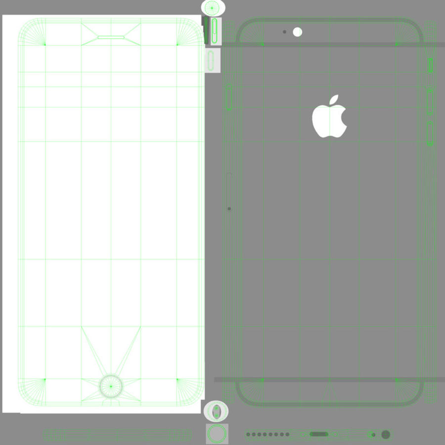 Apple iPhone 6 Plus royalty-free 3d model - Preview no. 19