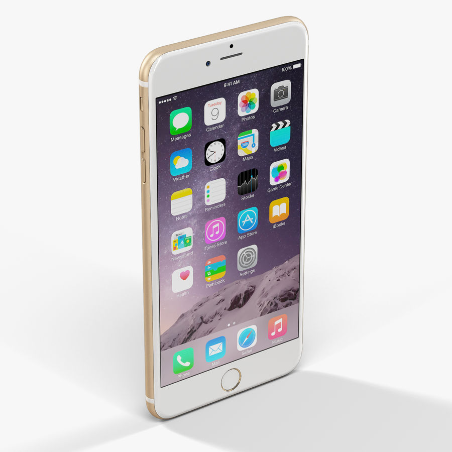Apple iPhone 6 Plus royalty-free 3d model - Preview no. 4