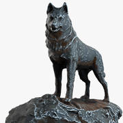 Statue de chien Haskey 3d model