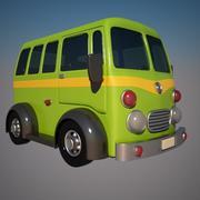 Cartoon Minibus 3d model