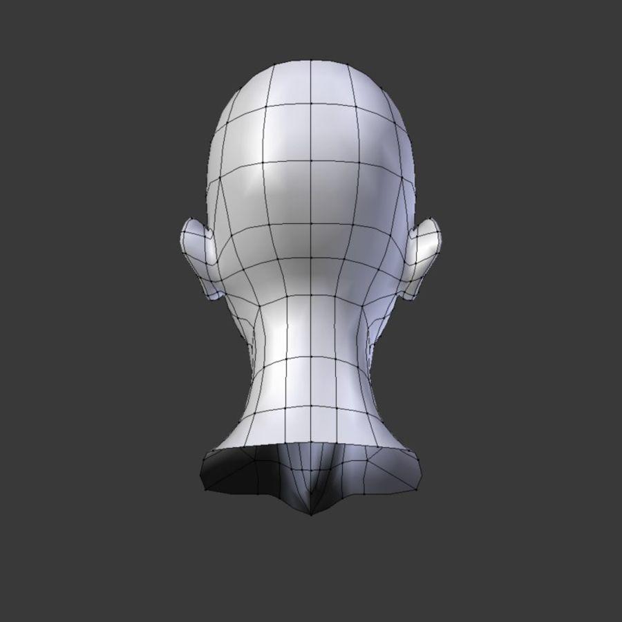 Tête de base basse en poly royalty-free 3d model - Preview no. 2
