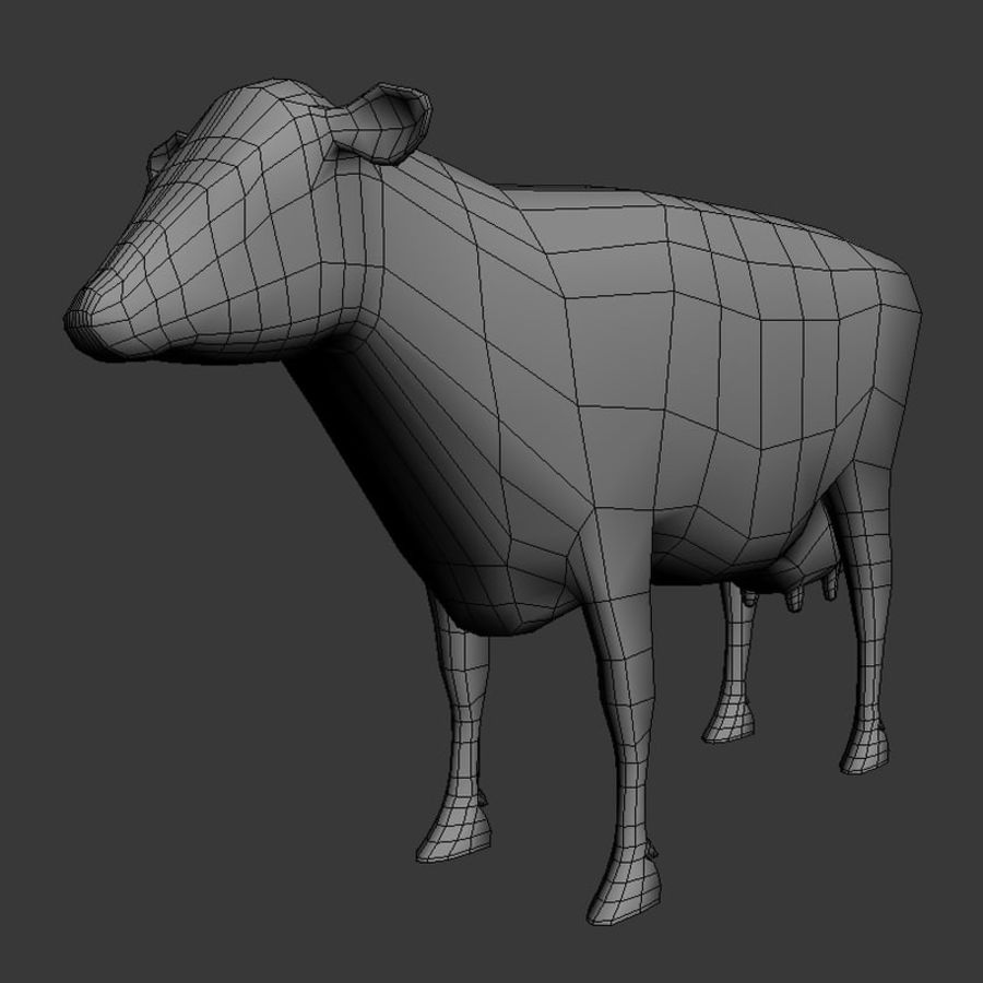 Cow royalty-free 3d model - Preview no. 6
