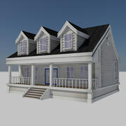 Cartoon House 2 - Residential Modern City Farm House 3d model