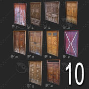 10 Low Poly Door For game Assets 3d model