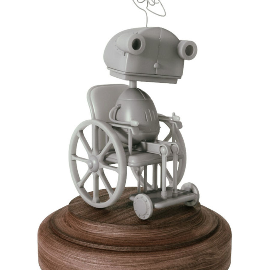 祖母机器人Machinarium royalty-free 3d model - Preview no. 1