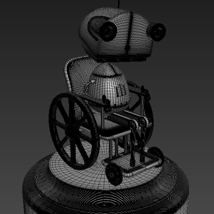 祖母机器人Machinarium royalty-free 3d model - Preview no. 3