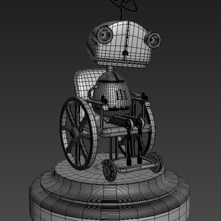 祖母机器人Machinarium royalty-free 3d model - Preview no. 8