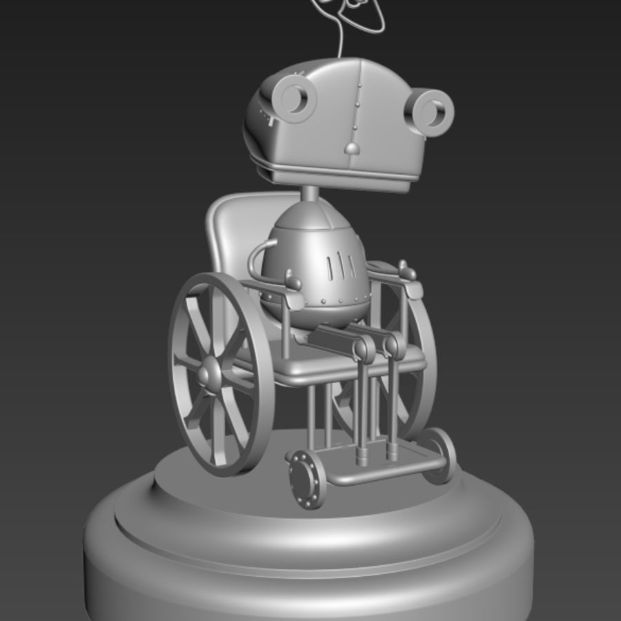 祖母机器人Machinarium royalty-free 3d model - Preview no. 9