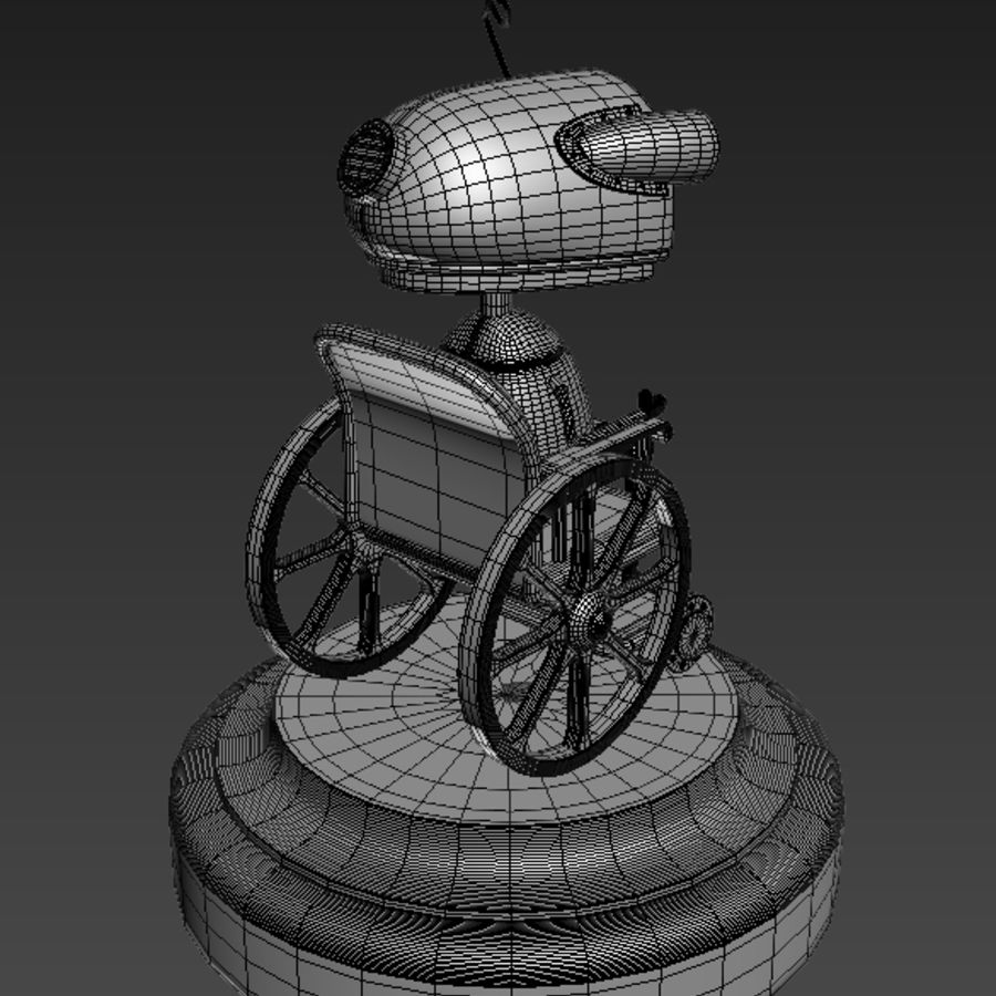 祖母机器人Machinarium royalty-free 3d model - Preview no. 7