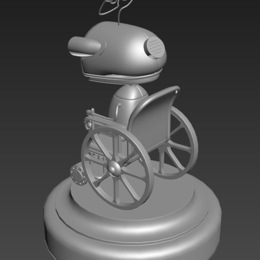 祖母机器人Machinarium royalty-free 3d model - Preview no. 5
