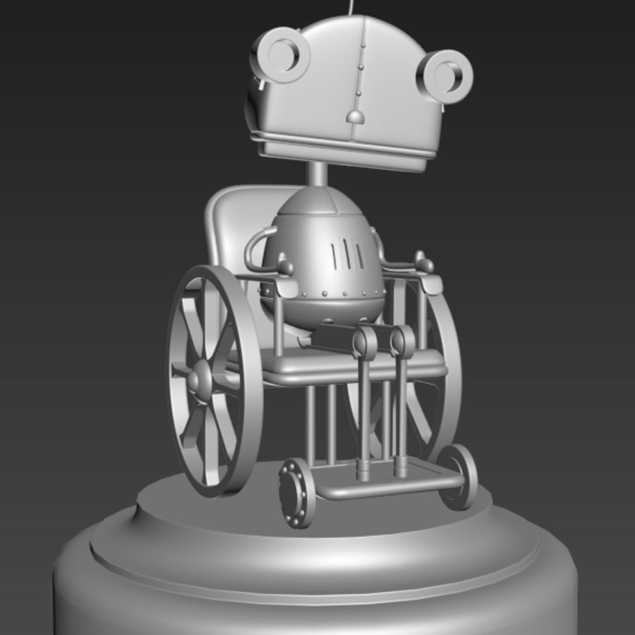 祖母机器人Machinarium royalty-free 3d model - Preview no. 4