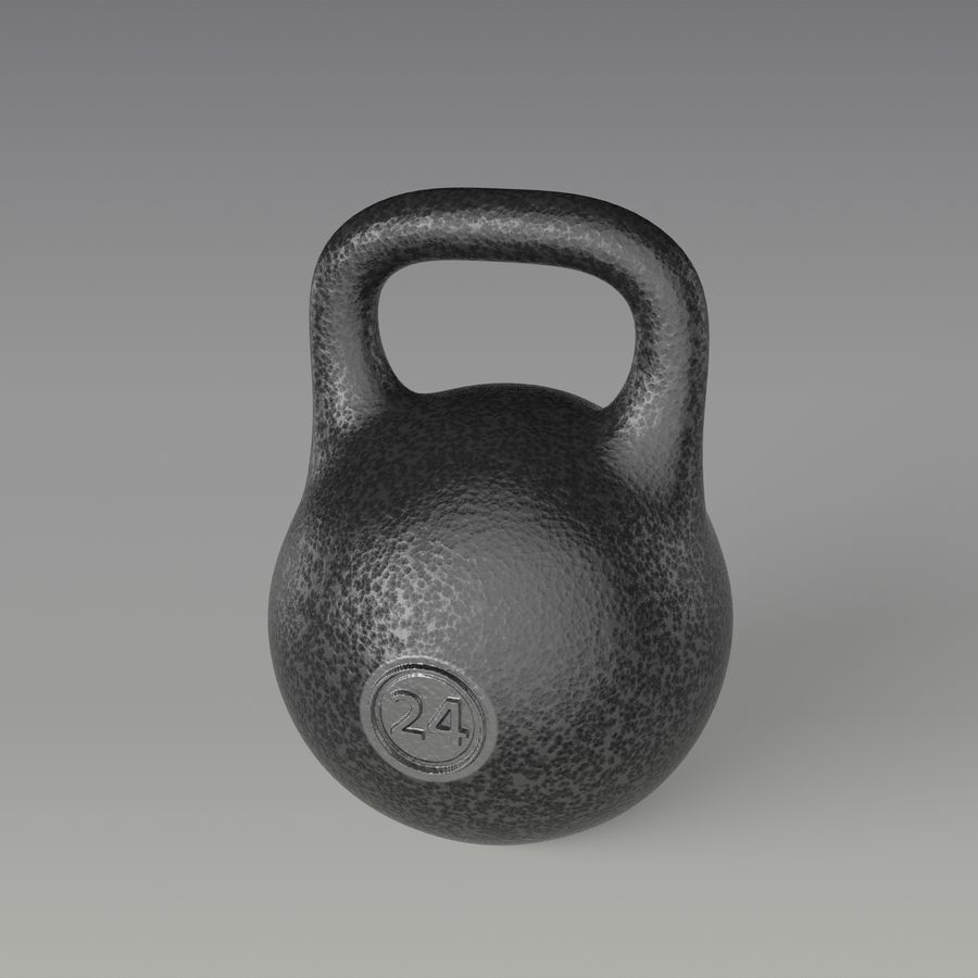 kettlebell royalty-free 3d model - Preview no. 4
