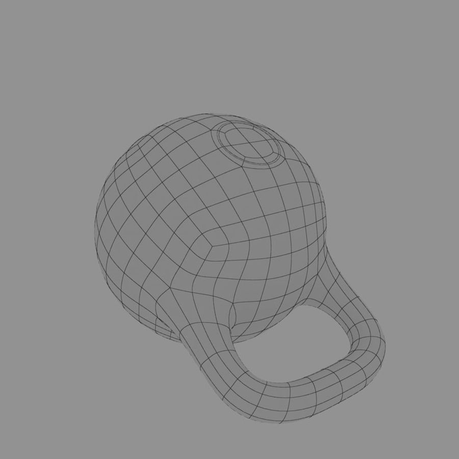 kettlebell royalty-free 3d model - Preview no. 13