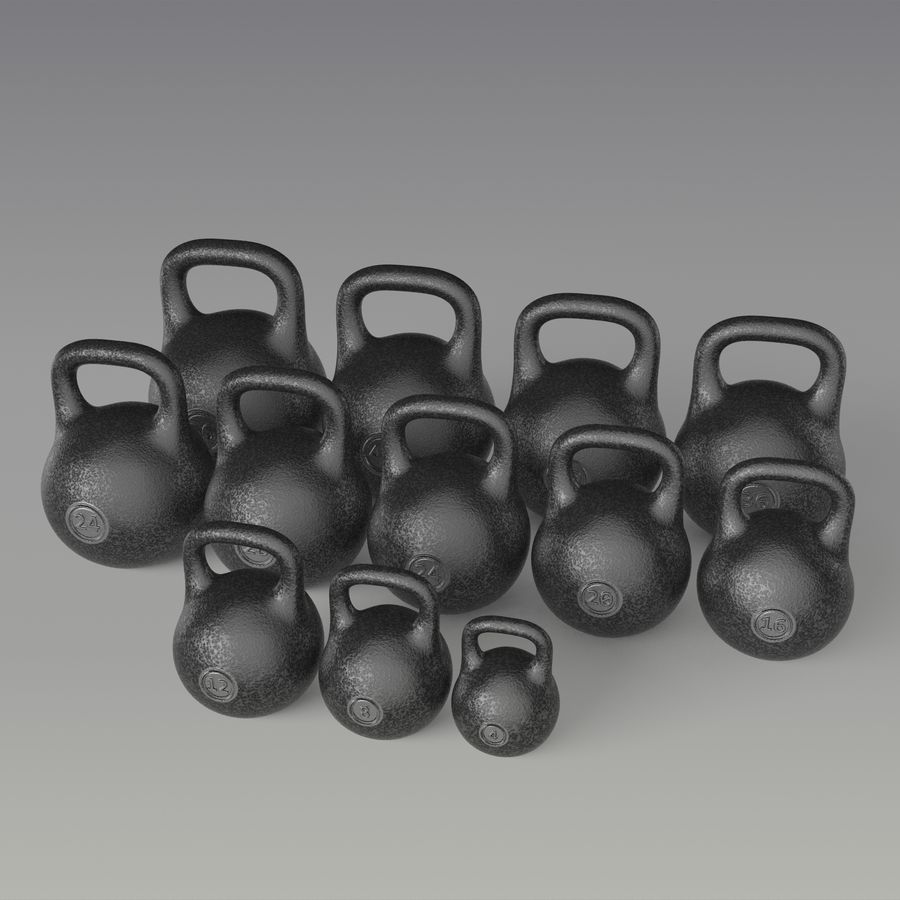 kettlebell royalty-free 3d model - Preview no. 3