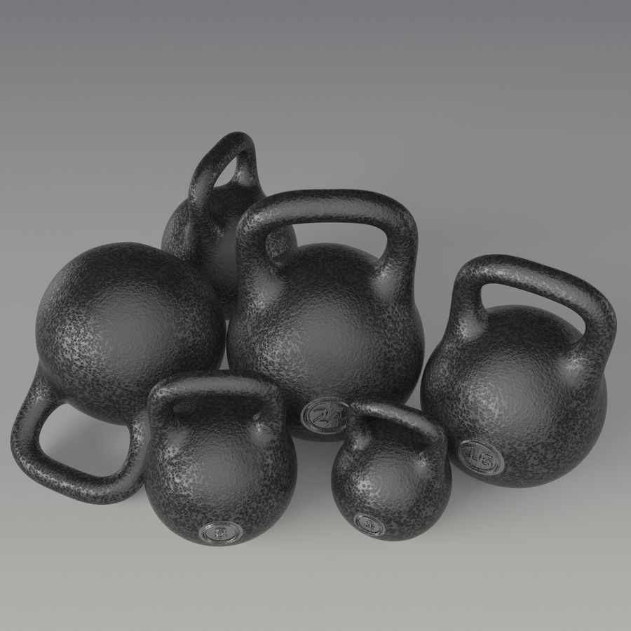 kettlebell royalty-free 3d model - Preview no. 2