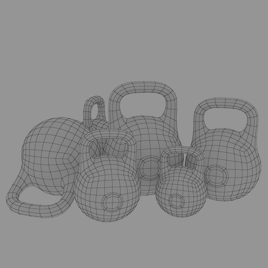 kettlebell royalty-free 3d model - Preview no. 8