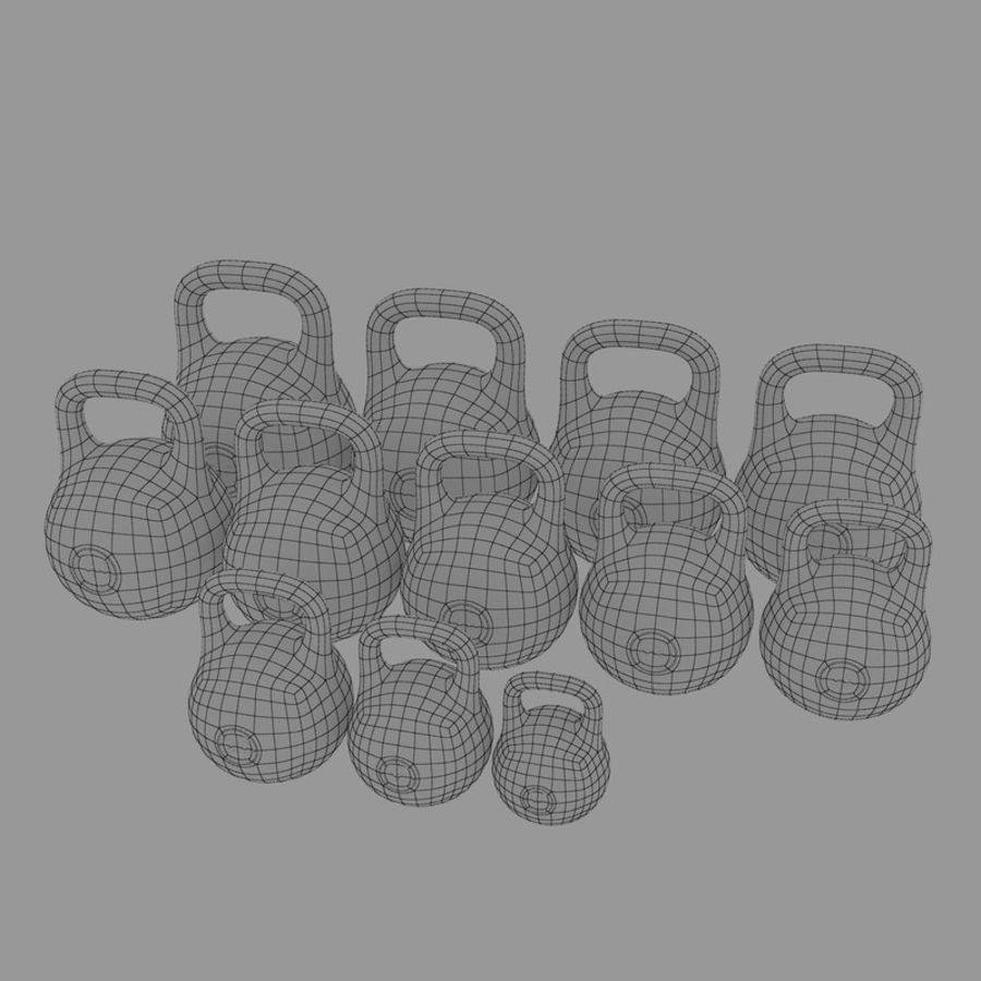 kettlebell royalty-free 3d model - Preview no. 10