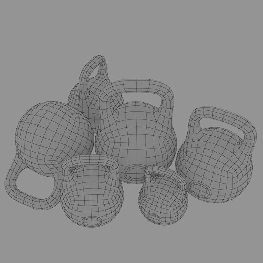 kettlebell royalty-free 3d model - Preview no. 9