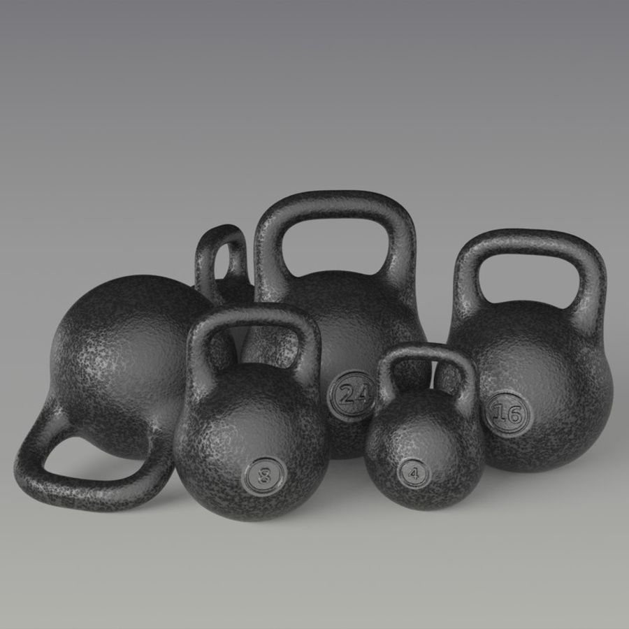 kettlebell royalty-free 3d model - Preview no. 1