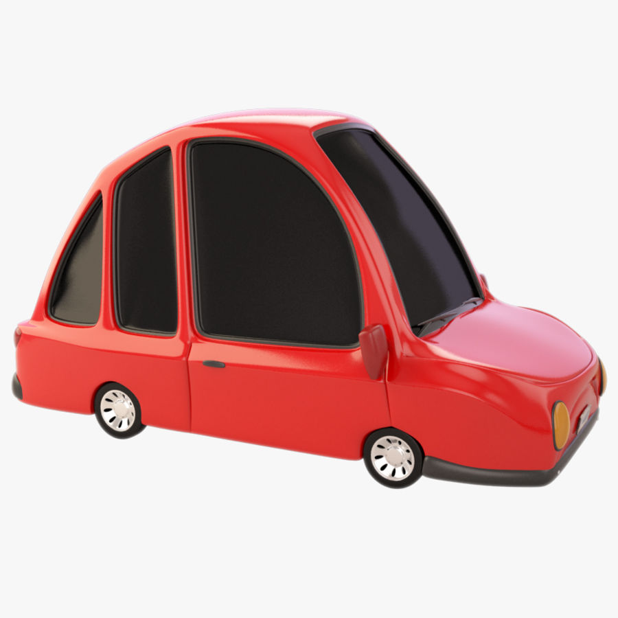 Modelo de coche de dibujos animados royalty-free modelo 3d - Preview no. 1