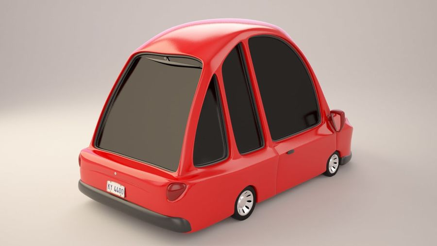 Modelo de coche de dibujos animados royalty-free modelo 3d - Preview no. 2