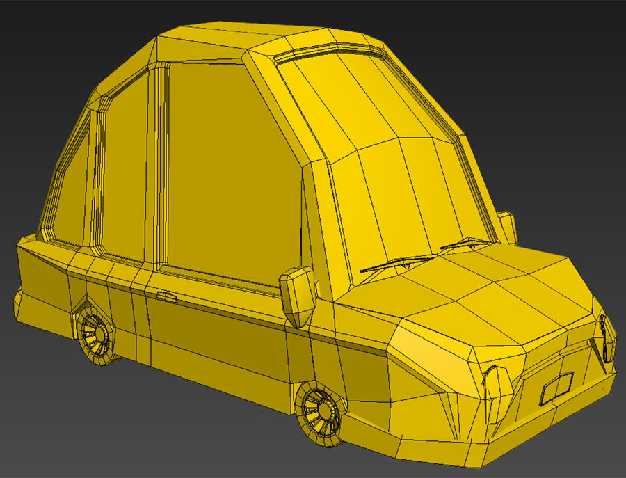 漫画車モデル royalty-free 3d model - Preview no. 8
