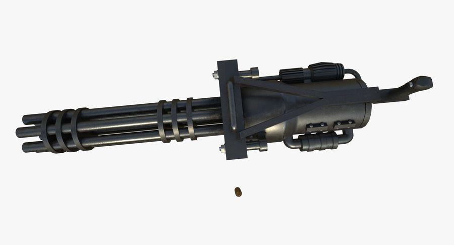 Machine gun royalty-free 3d model - Preview no. 3