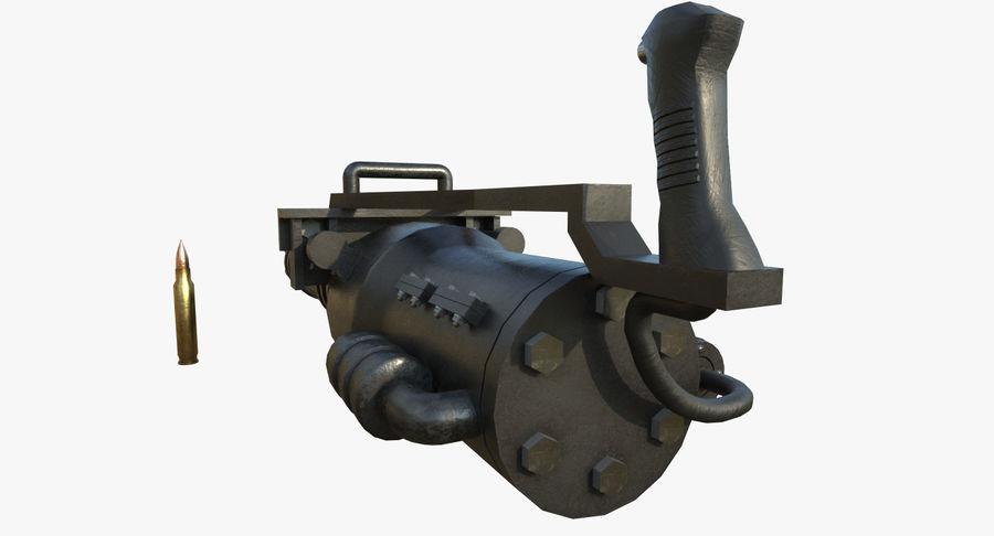 Machine gun royalty-free 3d model - Preview no. 10