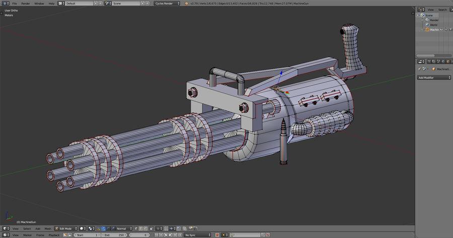 Machine gun royalty-free 3d model - Preview no. 4