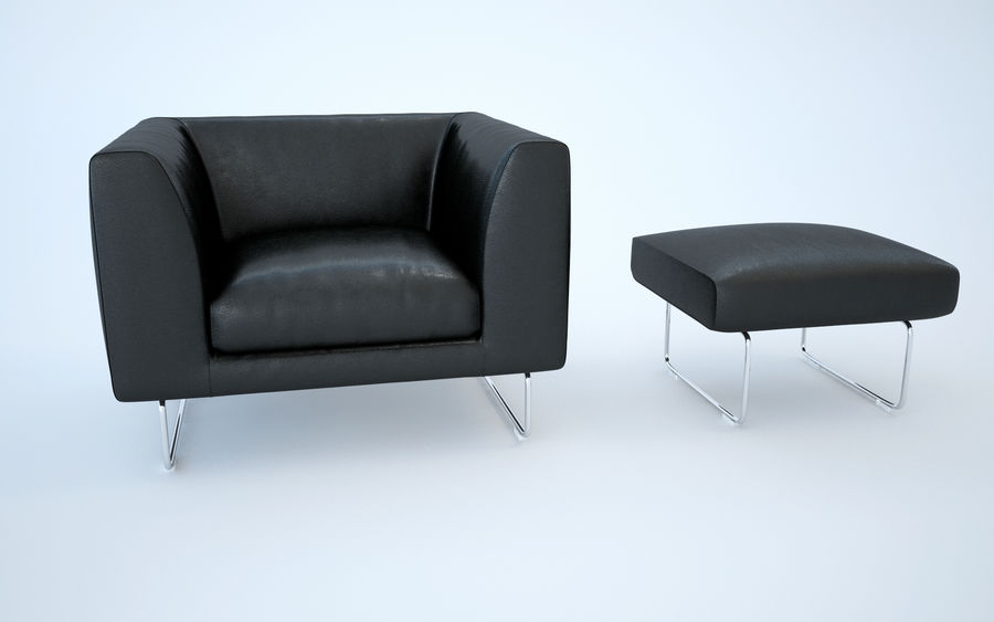 Armchair elan royalty-free 3d model - Preview no. 7
