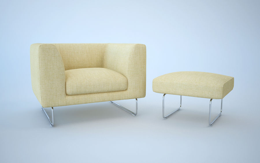 Armchair elan royalty-free 3d model - Preview no. 2
