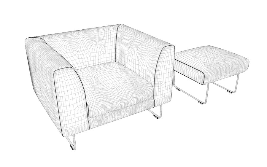 Armchair elan royalty-free 3d model - Preview no. 10