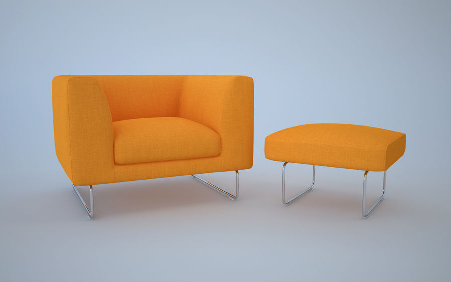 Armchair elan royalty-free 3d model - Preview no. 3