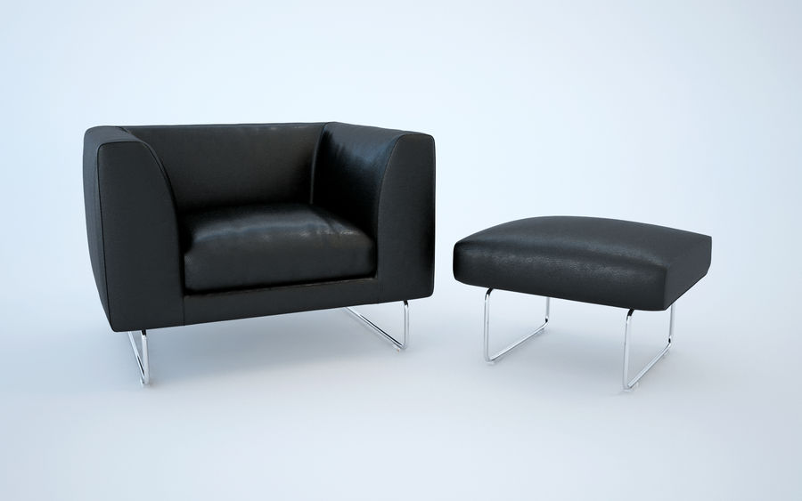 Armchair elan royalty-free 3d model - Preview no. 1