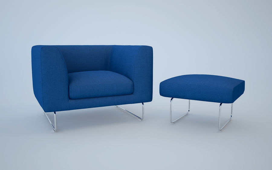 Armchair elan royalty-free 3d model - Preview no. 4