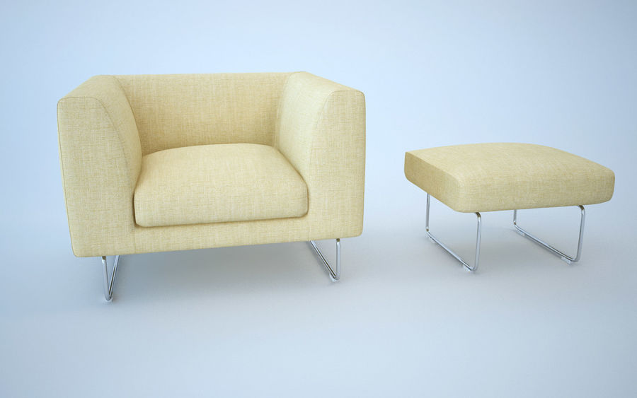 Armchair elan royalty-free 3d model - Preview no. 8