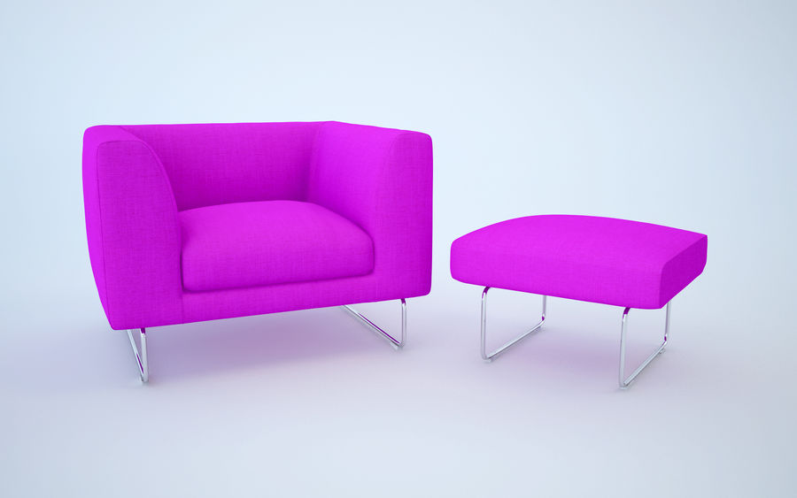 Armchair elan royalty-free 3d model - Preview no. 11