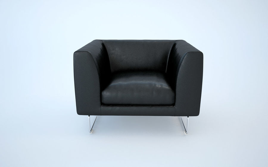 Armchair elan royalty-free 3d model - Preview no. 6