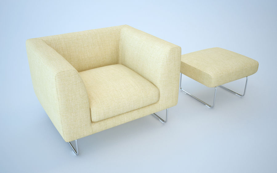 Armchair elan royalty-free 3d model - Preview no. 9