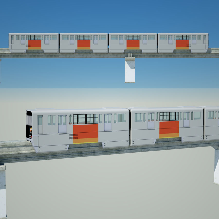 Monorail Modell 4 royalty-free 3d model - Preview no. 2