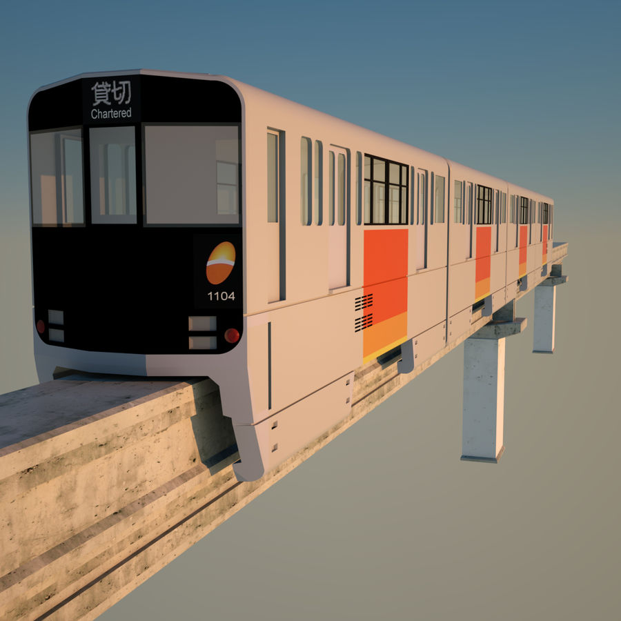 Monorail Modell 4 royalty-free 3d model - Preview no. 3