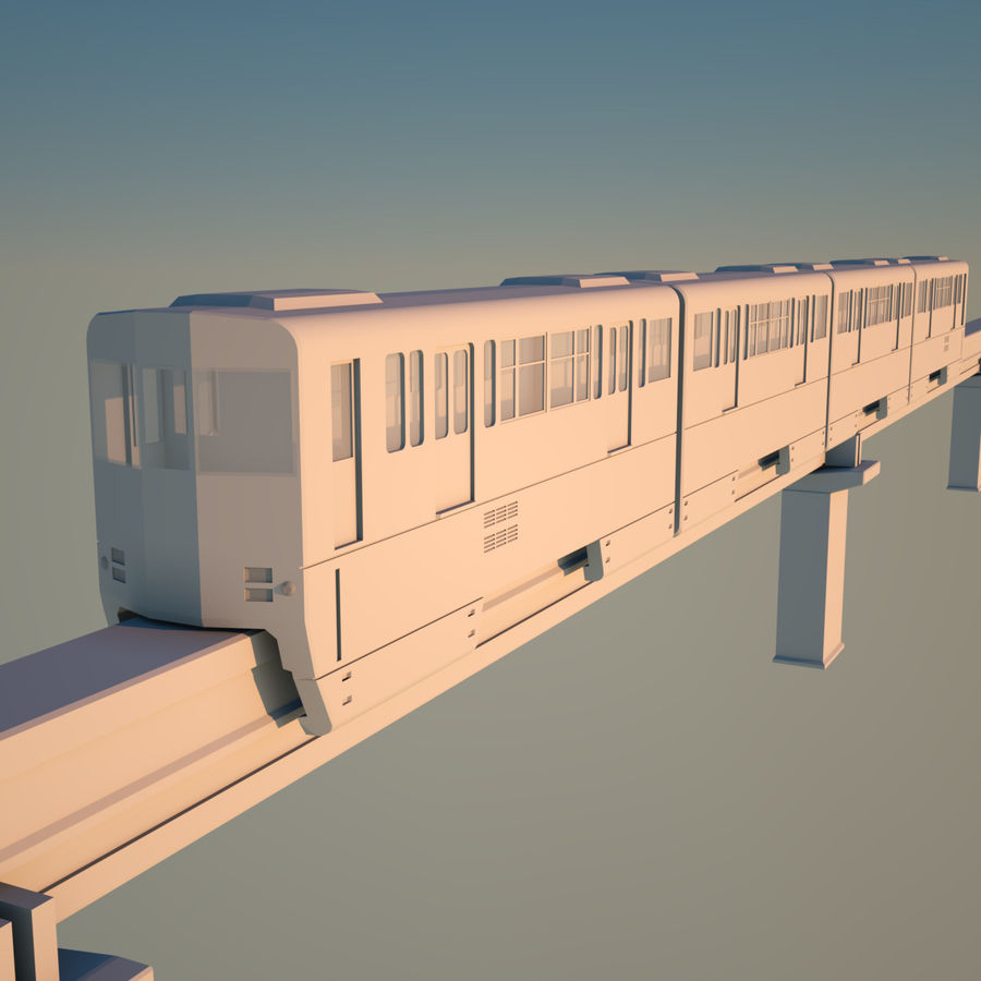 Monorail Modell 4 royalty-free 3d model - Preview no. 4