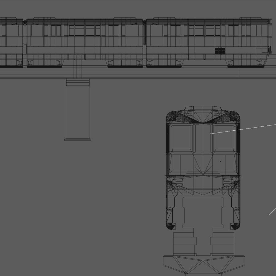 Monorail Modell 4 royalty-free 3d model - Preview no. 8